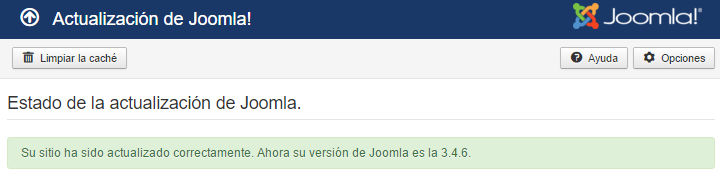 Joomla updated