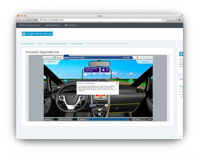 Simulador Seguridad Vial Moodle