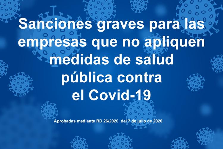 Se anuncian sanciones graves a empresas que no apliquen medidas de salud pública contra el Covid19